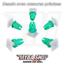 10x Clips de moulage avec bec en vert pour Mercedes Benz | A0019889781