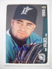 MARC VALDES signed MARLINS 1996 Upper Deck Collector's Choice baseball card AUTO