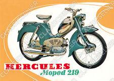 Hercules Moped Typ 219 Poster Plakat Bild Kunstdruck Schild Affiche Reklame Deko