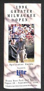 "Tiger Woods ""PGA Golf Pro Debut"" 1996 Greater Milwaukee Open GMO Program RARE!!"
