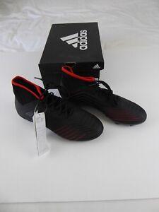 ADIDAS PREDATOR 19.2 FG BLACK FOOTBALL BOOTS SIZE UK6 EUR39.33