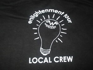 "Cygnus Label - WEEZER ""Enlightenment"" Local CREW Concert Tour (XL) T-Shirt"