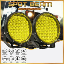 CREE NEW 9inch LED Driving Work Lights Spot Round Black OffRoad 4x4 ATV Truck