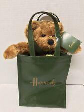 Harrods Pvc Bag 7� With Bear Plush New
