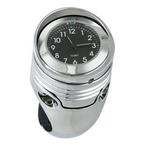 "Fit For Harley Davidson Chopper Chrome 1 1/4"" 1.25"" Motor Handlebar Clock Mount"