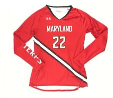 Under Armour Maryland Terrapins Volleyball Jersey LS Red Shirt Women's Small