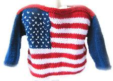 New Kss Handmade Red, Blue & White Us Flag Kids Sweater (3-4 Years) Sw-452