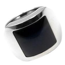 Dumont Women Fashion Onyx Stone Ring Solid 925 Sterling Silver Hawk's Eye Santos