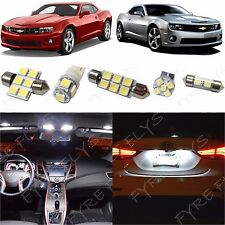 4x White LED lights interior package kit for 2010-2017 Chevy Camaro CC4W