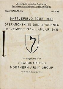 Seltener Druck: NORTHAG Battlefield Tour 1985 - Deutsche Übersetzung Ardennen