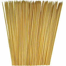 "12"" Bamboo Skewer wood stick BBQ Fish Steak Shish Kabobs Fondue Grill,100 ct"