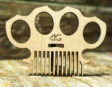 Handmade USA No-Static-Wood-Pocket-Beard-Comb-Hair-Brush Mens Grooming Barber
