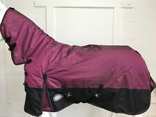 AXIOM 1800D BALLISTIC PINK DIAMOND/BLACK LIGHT (NO FILL) HORSE COMBO RUG - 6' 9
