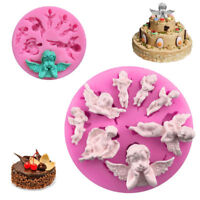 3D Silicone Angels Baby Mold Cake Mould Chocolate Decor Fondant Pastry Bake Tool