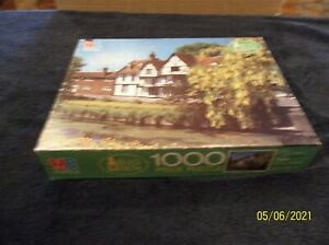 """Vtg 1986 MB BIG BEN 1000 Pc Puzzle Kent Canterbury, UK  SEALED 26 3/16""""x20 1/8"""""""