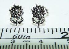 Sterling Silver Flower design Post / Stud Earrings. 1 Pair. Real Silver!