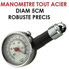 TOP! ROBUSTE & PRECIS MANOMETRE DIAM 5CM TOUT ACIER SPECIAL BATEAU REMORQUE
