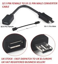 S2 i9100 micro usb 5pin to 11pin SIII S3 i9300 N7100 câble Adapater à HDMI MHL