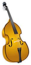 Bass basso string Music musica strumento adesivo etichetta sticker 7cm x 15cm