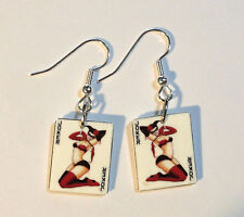 Jester Lady Earrings Joker Card Charms