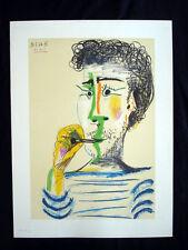 Picasso Le Fumeur Original Vintage Photolithograph inv1070