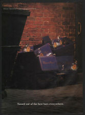 1989 CROWN ROYAL Blended Canadian Whisky - TOSSED OUT OF BEST BARS -  VINTAGE AD