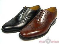 Loake 202 Rahmengenähte Leder Schuhe Oxford Budapester Schuhspanner Fullbrogue