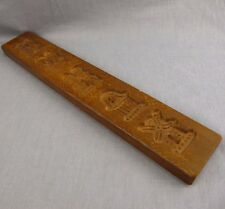 "Springerle Candy Butter Mold Walnut Wood 2.75"" x 15.75"" Wooden Dutch Board"