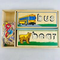 Melissa & Doug See and Spell Wood Letters Puzzle Boards Case Complete