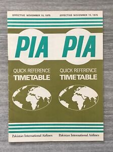 Pakistan International timetable 1975