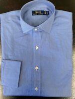 Polo Ralph Lauren Light Blue Cotton Poplin Dress Shirt Size 15 38