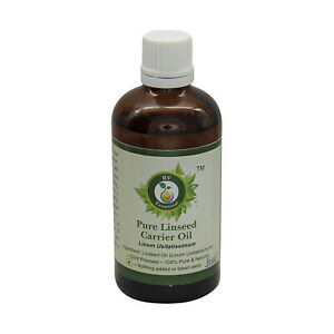 R V Essential Pure Linseed Oil Linum Usitatissimum Cold Pressed Heart Health