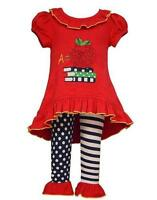 Bonnie Jean Girls A is for Apple First Day School Fall Red Knit Outfit 2T 3T 4T