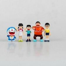 5 Pcs Doraemon Action Figure Nobita Gian Suneo Shizuka Big G Giant Takeshi Toys