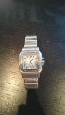 Cartier Santos Mens stainless silver watch