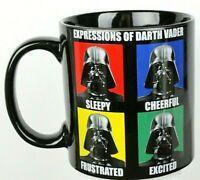 "Star Wars 20 oz. Size ""Expressions Of Darth Vader"" Coffee Mug Ceramic Black New"