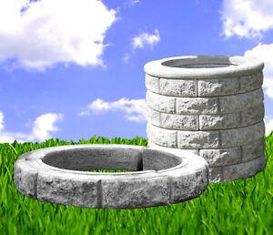 Brunnen Ring für SET Brunnenschacht Brunnen Steinbrunnen Steinkunst BLACKFORM