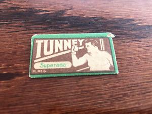 Rare Original Vintage GENE TUNNEY RAZOR BLADE  BOXING CARD