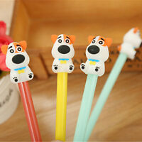 8Pcs Cute Kawaii Lovely Colorful Cartoon Novelty Dog Puppy Ball pens Gel Ink Pen