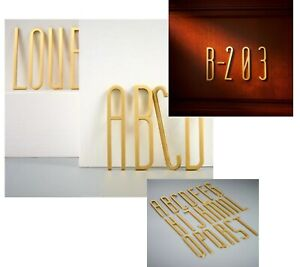 Brass Letters A To Z For Company Names Door Plates Personalised Wall Decoration
