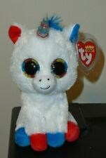 "Ty Beanie Boos - LIBERTY the Unicorn 6"" (2019 Cracker Barrel Exclusive) NEW"