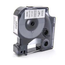 RUBAN CASSETTE 12mm N/B pour Dymo D1, 45013
