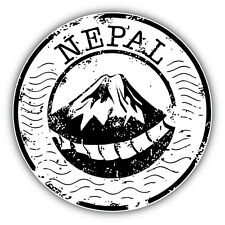 Nepal Grunge Stamp Car Bumper Sticker Decal 5'' x 5''
