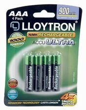 Lloytron, AAA Rechargeable Battery, NIMH AccuPower (B015), 900mAh 4 Pack