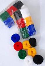 "12 MINI DONUTS 6 colors Scrunchies Hair Small 1""x1.5 1 DOZEN"