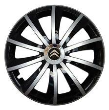 4x15 Wheel trims Wheel covers fit Citroen C4 Cactus black - silver new