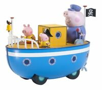 Peppa Pig on Grandpa Pig's Boat with figures playset toy