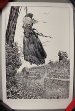 """RARE """"Perished on the Scaffold"""" Frankenstein Bernie Wrightson Signed Art Print"""
