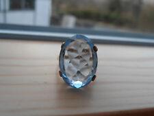 Vintage 9ct Gold Large Blue Quartz Ring size M