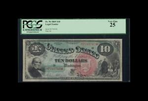 BEAUTIFUL 1869 $10 LEGAL TENDER RAINBOW FR.96 PCGS VERY FINE 25
